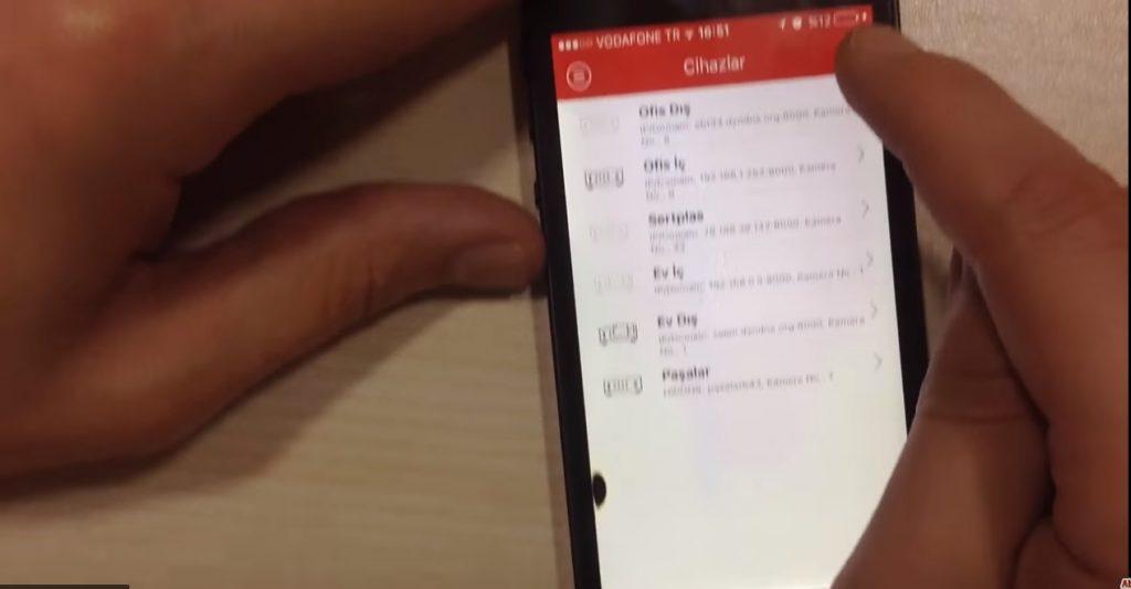 İphone Cep Telefonlarına (Sabit İp ) IVMS 4500 Uzaktan İzleme Programı İle Cihaz Ekleme