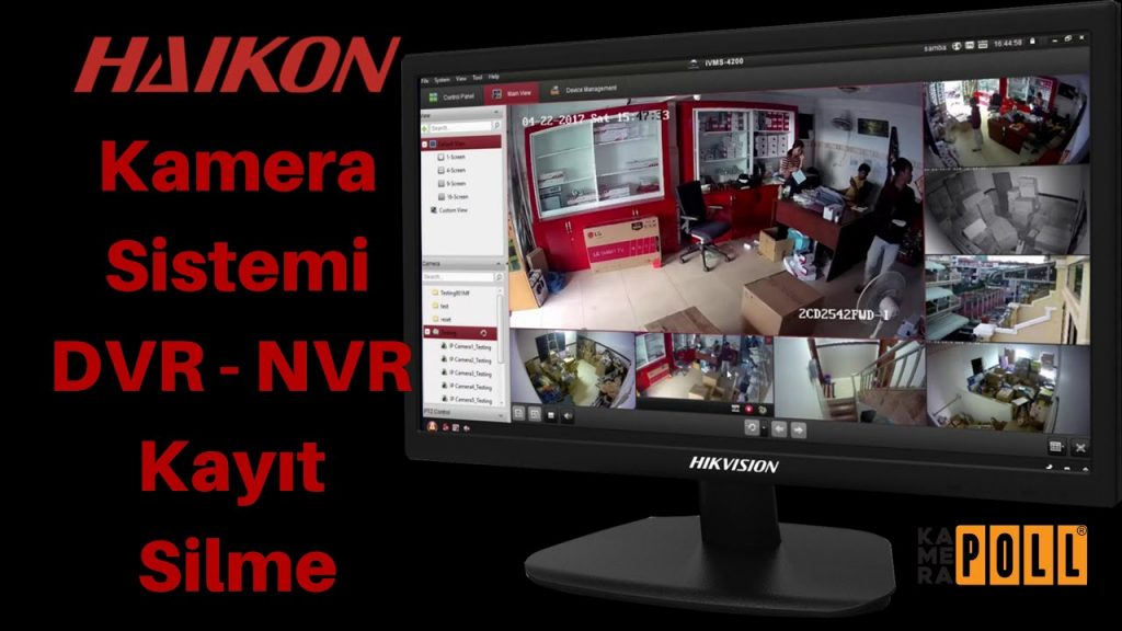 Haikon Kayıt Silme | Hikvision DVR NVR Kamera Kaydı Silme | Güvenlik Sis…