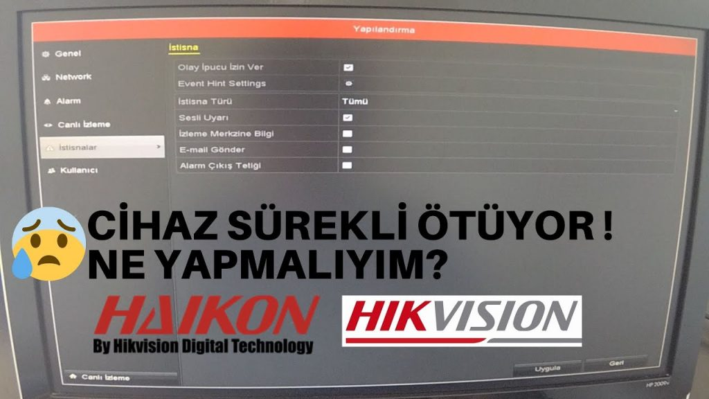 Hikvision DVR kayıt cihazım ötüyor! Ne yapmalıyım? Haikon DVR, NVR Sesli…